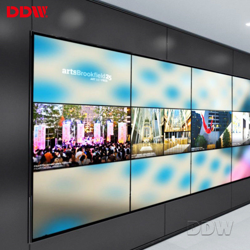 16/9 Aspect Ratio 55 Inch Video Wall / Light Weight LCD Video Wall Display